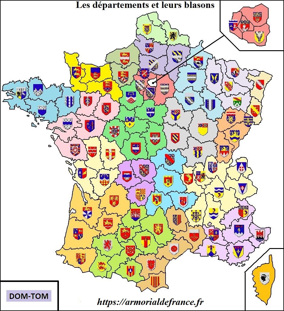 Carte des d�partements